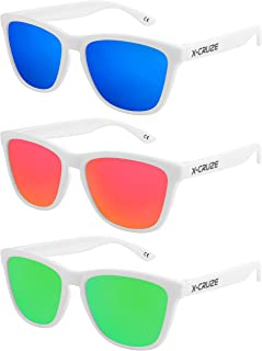 54a9fbcbf8 X-CRUZE® Gafas de sol Nerd polarizadas estilo Retro Vintage Unisex  Caballero Dama Hombre