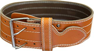 "Weight Power Lifting Belt 4"" Wide Cobra Grips Best Premium Genuine Leather Belt for Men & Women Adjustable Weightlifting Back Support"