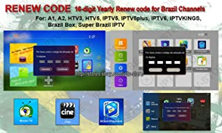 HTV 1 2 3 5 / A1&2&3 / IPTVKINGS/Brazil Box/Super Brazil IPTV Brazil Subscription 16-Digit Renew Code with Magic Keys Free 1 Extra Month and Free Remote