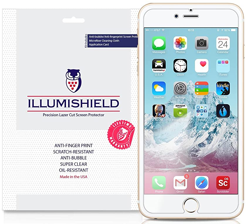 iPhone 7 Plus Screen Protector [3-Pack], iLLumiShield Screen Protector for iPhone 7 Plus Clear HD Shield with Anti-Bubble & Anti-Fingerprint Film