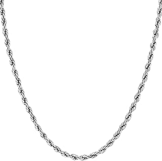 Lifetime Jewelry Gold Necklaces for Women & Men [ 2mm Rope Chain ] with Up to 20X More 24k Plating Than Other Necklace Chain - Durable Gold Necklace with Free Lifetime Replacement Guarantee 16