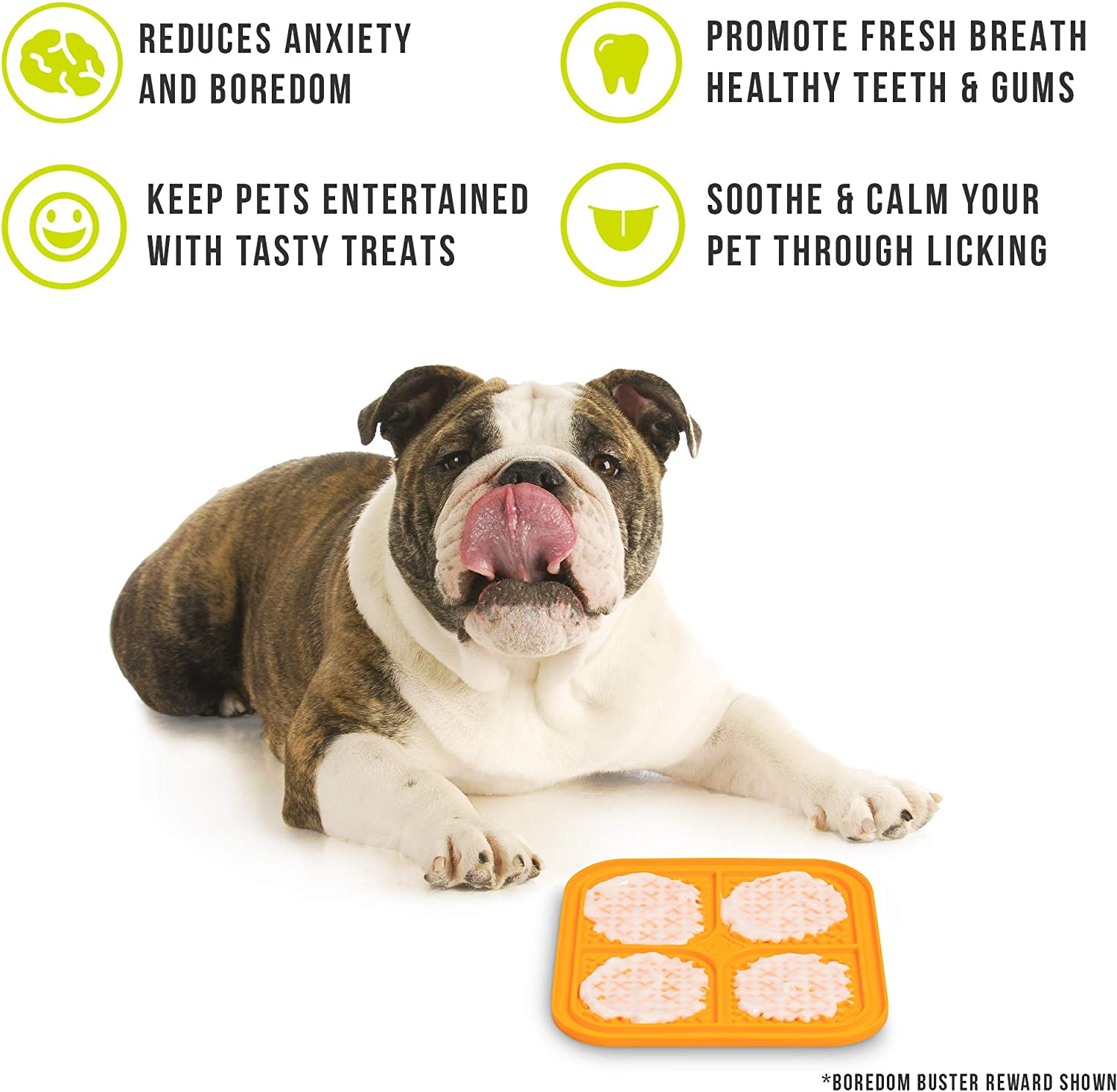 Calming Mat for Anxiety Relief Hyper Pet Licking Mat for Dogs /& Cats Just Add Healthy Treats New Version, IQ Treat Mat | Fun Alternative to Slow Feeder Dog Bowls Boredom Buster | Made in U.S