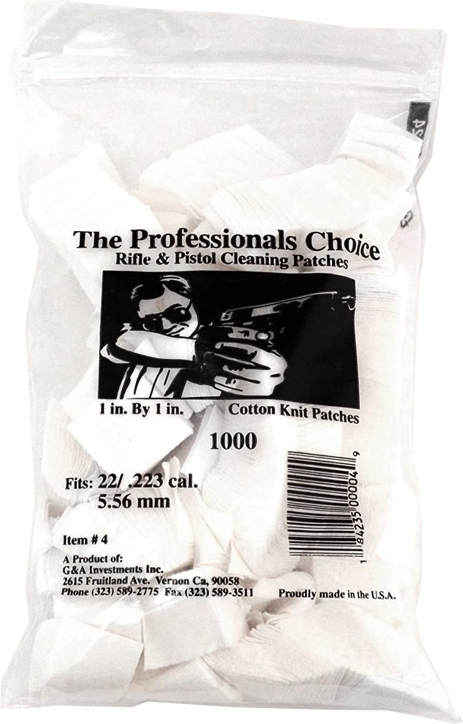 Professional's Choice Gun Cotton Knit Cleaning Patches