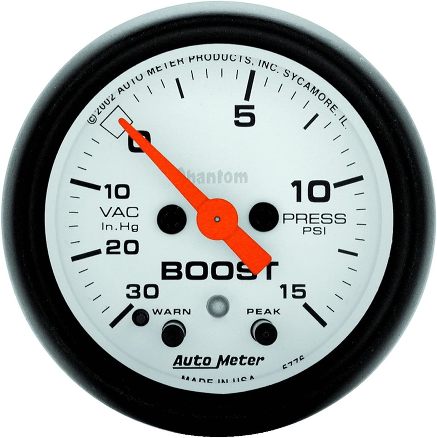 Auto Meter 5776 Phantom Electric Boost Vacuum in. Tampa Mall Popular products 2.3125 Gauge