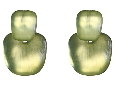 Alexis Bittar Chunky Layered Soft Square Post Earrings (Sage) Earring