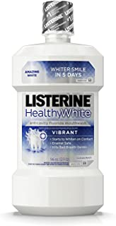Listerine Healthy White Anticavity Mouthrinse, 32 Fl Oz (32 ounce 2 Pack)