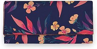 ShopMantra Blue Color Floral Pattern Artificial Leather Women Wallet|Clutch|Ladies Purse
