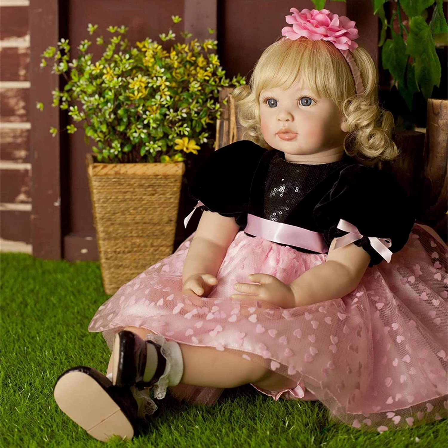YANRU Baby Inventory cleanup selling sale Clearance SALE Limited time Newborn Doll 24 in Can't Dolls Ha Reborn Speak