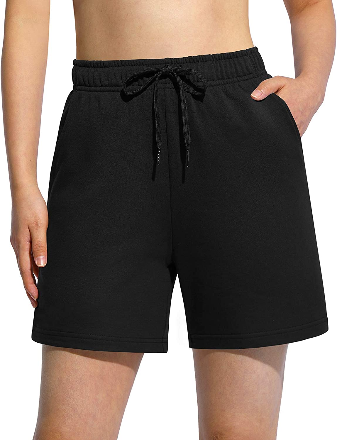 """G4Free Womens Sweat Shorts 5"""" Long Athletic Cotton Ranking TOP1 Genuine Free Shipping 10"""