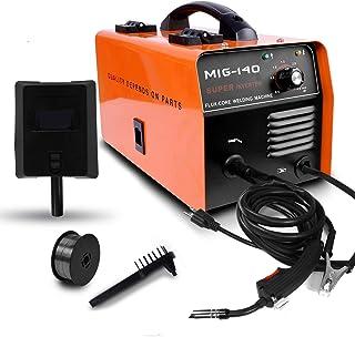 ETOSHA No Gas 140 MIG Welder 140Amp Flux Core Wire Gasless Automatic Feed Welder, Free Mask &welding gloves, 110V-Orange