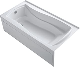 KOHLER K-1259-LAW-0 Mariposa 72-Inch X 36-Inch Alcove Bath with Bask Heated Surface, Integral Apron, Tile Flange and Left-Hand Drain, White