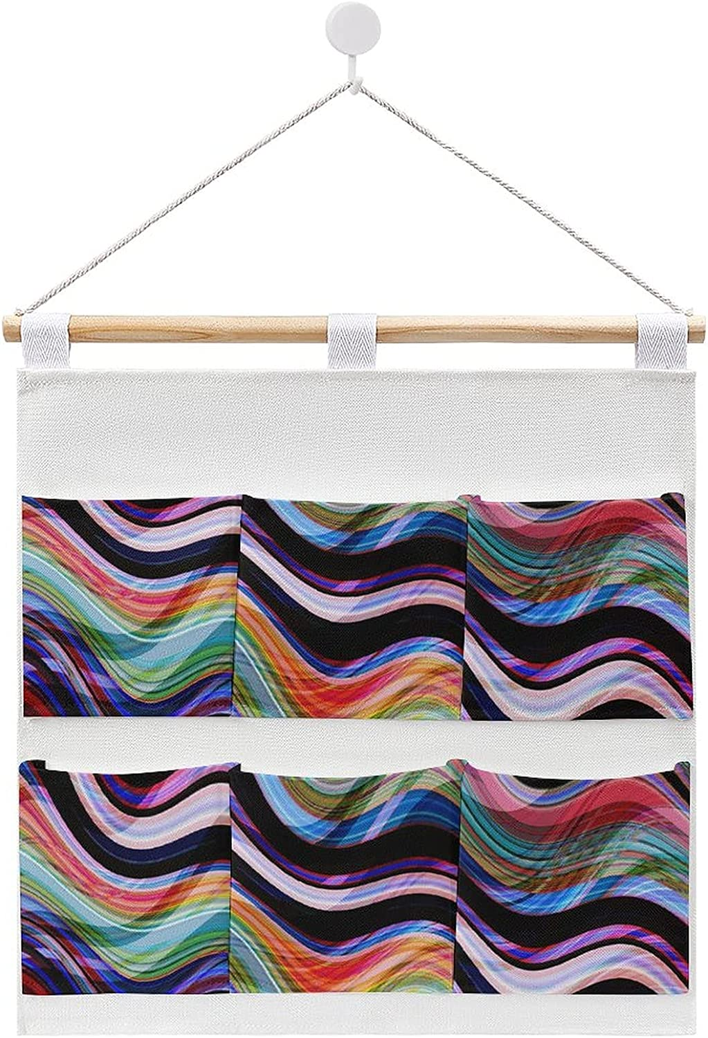 Colorful Wavy Stripes Pattern Hanging linen storage New arrival cotton and Mesa Mall b