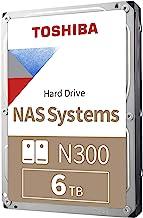 Toshiba N300 6TB NAS 3.5-Inch Internal Hard Drive - CMR SATA 6 GB/s 7200 RPM 256 MB Cache -...