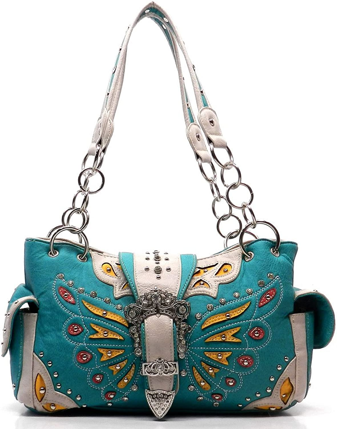 Fashion Glad Western Buckle Butterfly Shoulder Bag Tote Purse