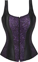 Corsets for Women Overbust Bustier Top Gothic Sexy Shoulder with Straps
