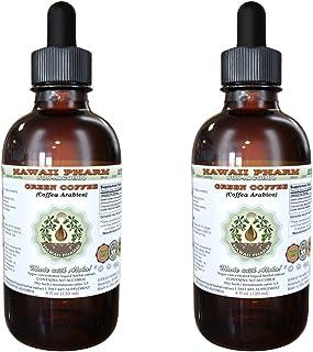 Green Coffee Alcohol-Free Liquid Extract, Green Coffee (Coffea Arabica) Dried Bean Glycerite Herbal Supplement 2x2 oz
