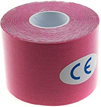 TrendBox Hot Pink - 1 Roll 5m x 5cm Kinesiology Sports Muscles Care Elastic Physio Therapeutic Tape for Knee Shoulder Wrist Muscle Back Injury Exercise