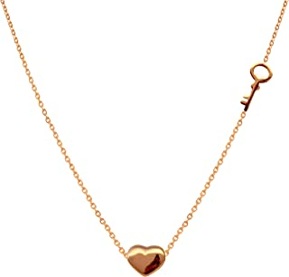 Cute small heart pendent and key necklace for woman's-Simple design chain Fashion jewelry for woman