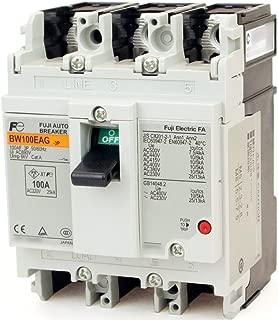 Fuji Electric, BW100EAG-3P075, Circuit Breaker Thermal Magnetic 3Pole 75A 690VAC/250VDC