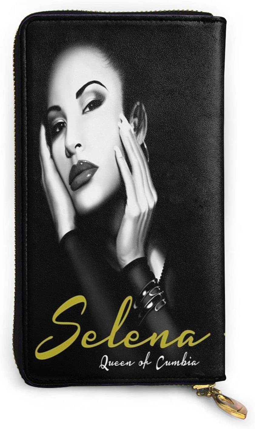 KAMIZE Selena Quintanilla Men'S And Women'S Ultra-Thin One-Piece Leather Wallets, Zipper Clutches, Coin Purses, Credit Cards Bag