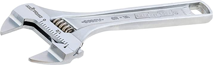 Channellock 806SW Xtra Slim Jaw 6-Inch Adjustable Wrench | 0.94-Inch Jaw Opening | Precise Jaw Design Grip in Tight Spaces | Measurement Scales for Easy Sizing of Diameters