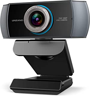 Full HD Webcam 1080P, Streaming Camera, Widescreen Video Calling and Recording with Microphone, USB Wide Angle Skype Camer...