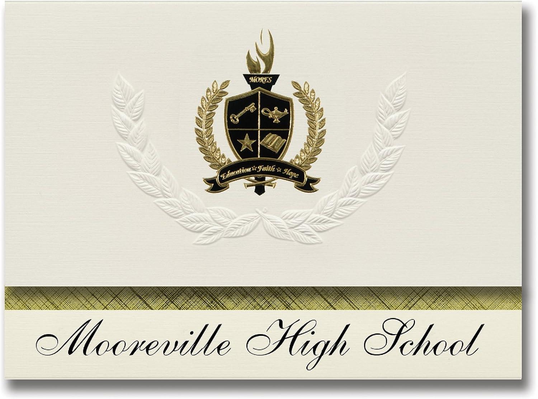 Signature Ankündigungen mooreville High School (mooreville, MS) Graduation Ankündigungen, Presidential Presidential Presidential Stil, Basic Paket 25 Stück mit Gold & Schwarz Metallic Folie Dichtung B0794SNCK4 | Haltbar  9490be