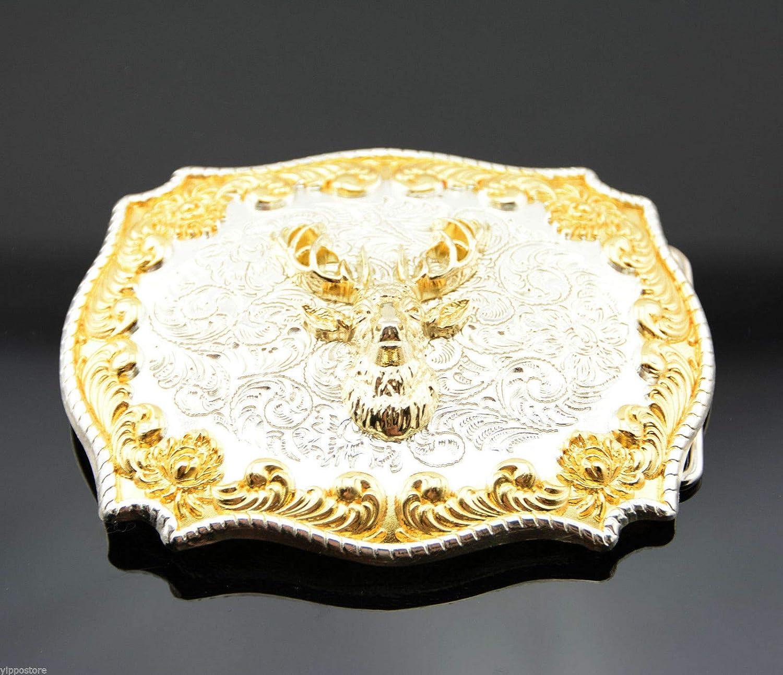 Gold Silver Plated Deer Buck Head Western Metal B Cowboy San Diego Mall Rodeo Max 73% OFF