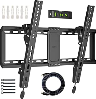 BONTEC Soporte de TV en Pared de 37-70 Pulgadas de LED LCD Plasma Soporte Inclinable de Montaje en Pared VESA 600x400mm Ca...