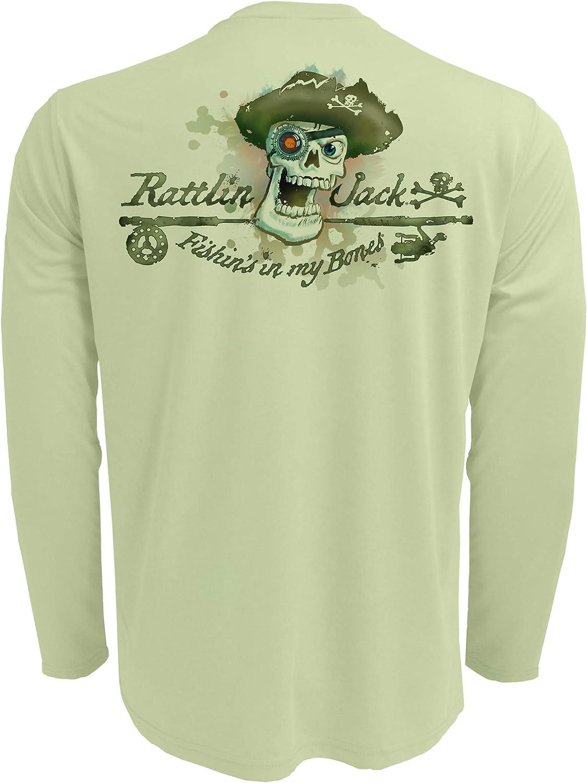 Rattlin Jack Men's UPF specialty shop Discount is also underway 50+ Fishing Performance Long Skull S Logo
