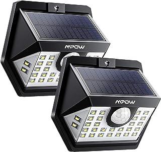 Détecteur de Mouvement Lampe Solaire Extérieur 40 LED Spot Solaire Etanche IP65