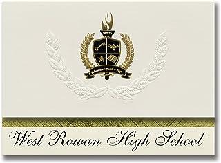 Signature Announcements West Rowan High School (Mount Ulla, NC) Graduation Announcements, Presidential style, Elite packag...