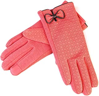 SGJFZD Women Winter Warm Gloves Touch Screen Gloves Driving Gloves Riding Outdoor Gloves Thermal Gloves (Color : Pink, Size : OneSize)