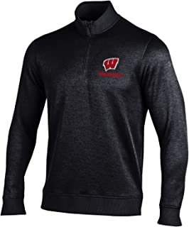 Wisconsin Badgers Adult Black Storm Fleece Performance 1/4-Zip
