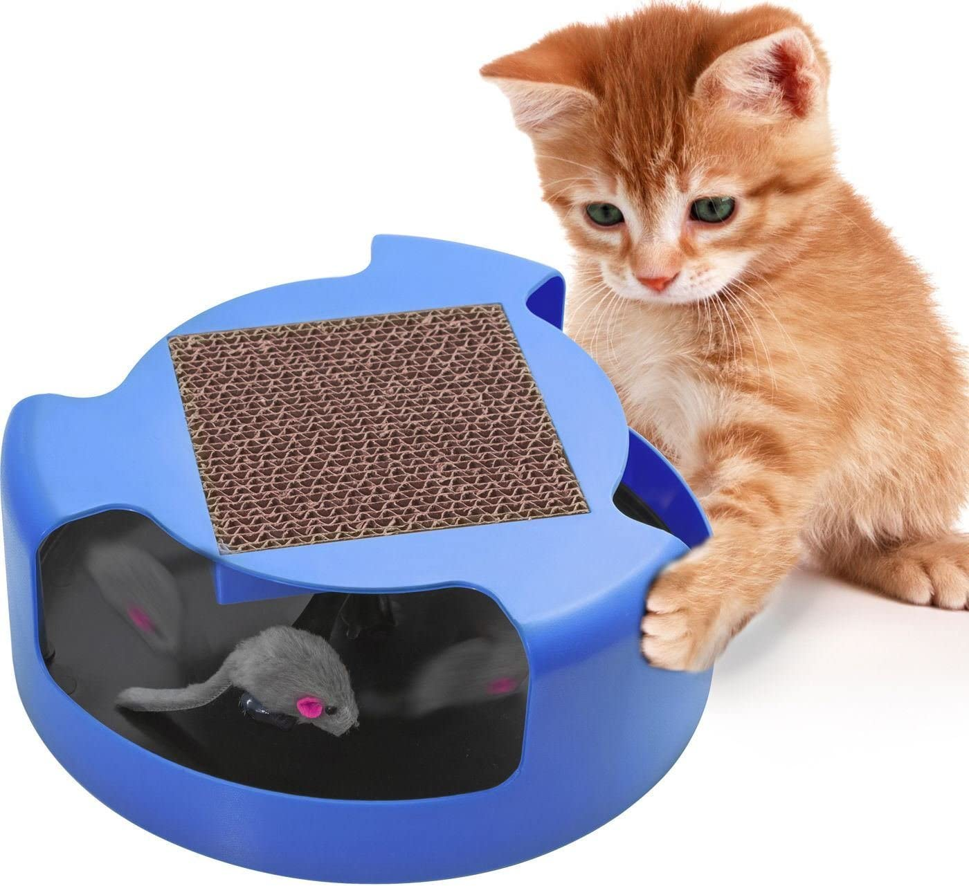 Magnusdeal Superlatite Cat Mouse Play Toy with A Post Scratching Brand new Pad for Pup