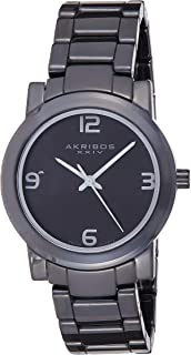 Akribos XXIV Men's Trek Ceramic Swiss Quartz Bracelet Watch