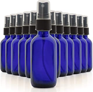 1790 Blue Glass Essential Oil Bottles, 2 oz Small Glass Bottles, Glass Bottles for Essential Oils- BPA Free - Toxin Free -...