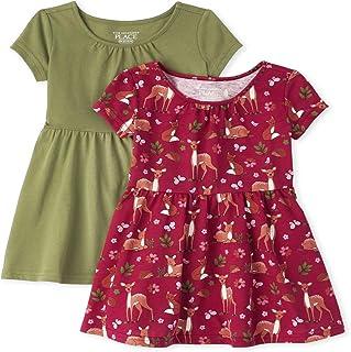 فساتين للفتيات قصيرة الأكمام بطيات من ذا كيدز بلايس، عبوة من فستان كاجوال