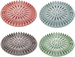 tubo in silicone confezione da 4 filtro in gomma per lavello per bagno e cucina filtro filtro per la vasca da bagno e il lavandino Tappi di scarico per doccia CaLeQi