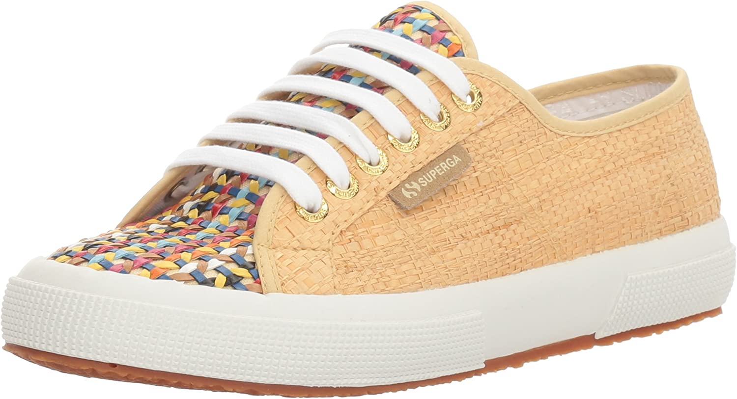 Superga Womens 2750 Raffia Multi Fashion Sneaker