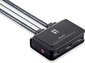 LevelOne KVM-0290 Kabel-KVM-Switch 2-Ports HDMI USB Audio