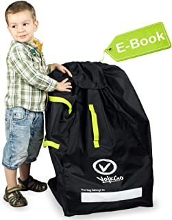 VolkGo Durable Car Seat Travel Bag with E-Book –– Ideal Gate Check Bag for Air Travel..