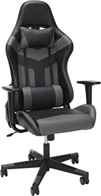 OFM ESS Collection High Back PU Leather Gaming Chair, Grey