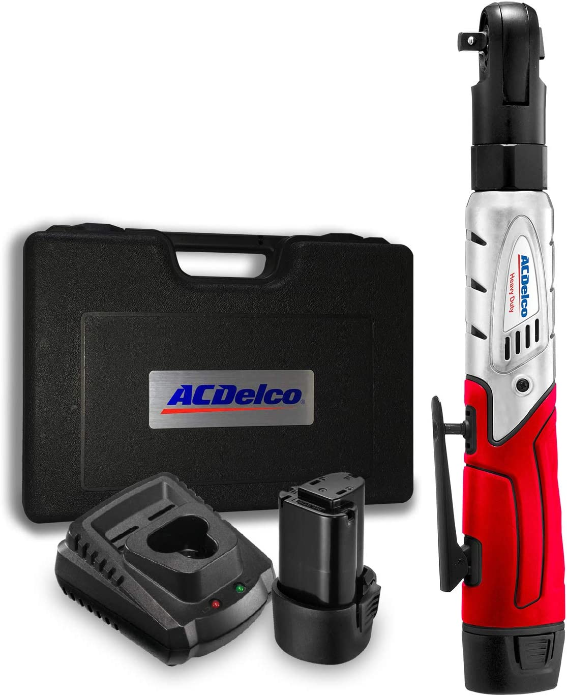 """ACDelco ARW1201 G12 Series 12V Cordless Li-ion 3/8"""" 57 ft-lbs. Ratchet Wrench Tool Kit with 2 Batteries and Carrying Case"""