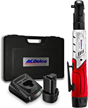 """ACDelco Cordless 3/8"""" Ratchet Wrench 57'-Lb of max Torque Tool Set with 2.."""