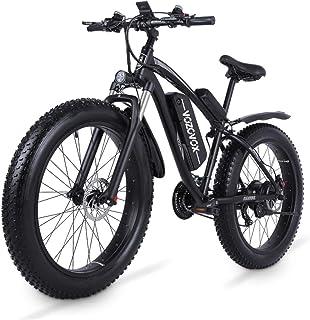 VOZCVOX MX02S elektrisk mountainbike 60 cm cykel 1 000 w med fett däck, 48 V 17 Ah avtagbart batteri, 3,5 tums LCD-skärm, ...