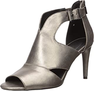 Kenneth Cole Reaction Women's Kick 85 PEEP Pump, Pewter, 9.5 Medium US
