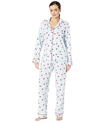 BedHead Pajamas Long Sleeve Classic Notch Collar Pajama Set (Walk The Line) Women