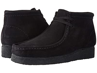 Clarks Wallabee Boot (Black Suede) Women