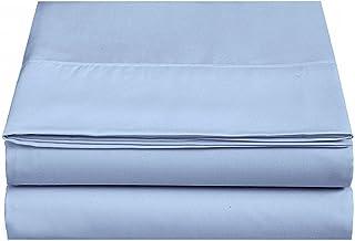 4U LIFE Flat Sheets (20-Pack)-Ultra Soft & Comfortable Microfiber(Light Blue, Queen)